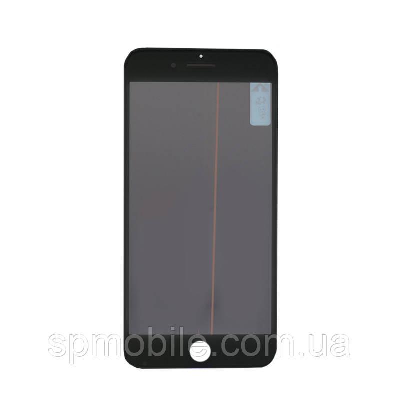 Стекло с рамкой и пленкой OCA Apple iPhone 7 чёрная