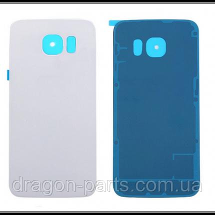 Задняя крышка стеклянная Samsung G920FD Galaxy S6 белая white оригинал, GH82-09994B, фото 2