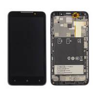 HTC Desire 516 дисплей в зборі з тачскріном модуль з рамкою чорний
