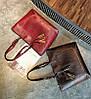 Большая вместительная сумка с мраморным оттенком и тиснением , фото 4
