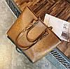 Большая вместительная сумка с мраморным оттенком и тиснением , фото 5