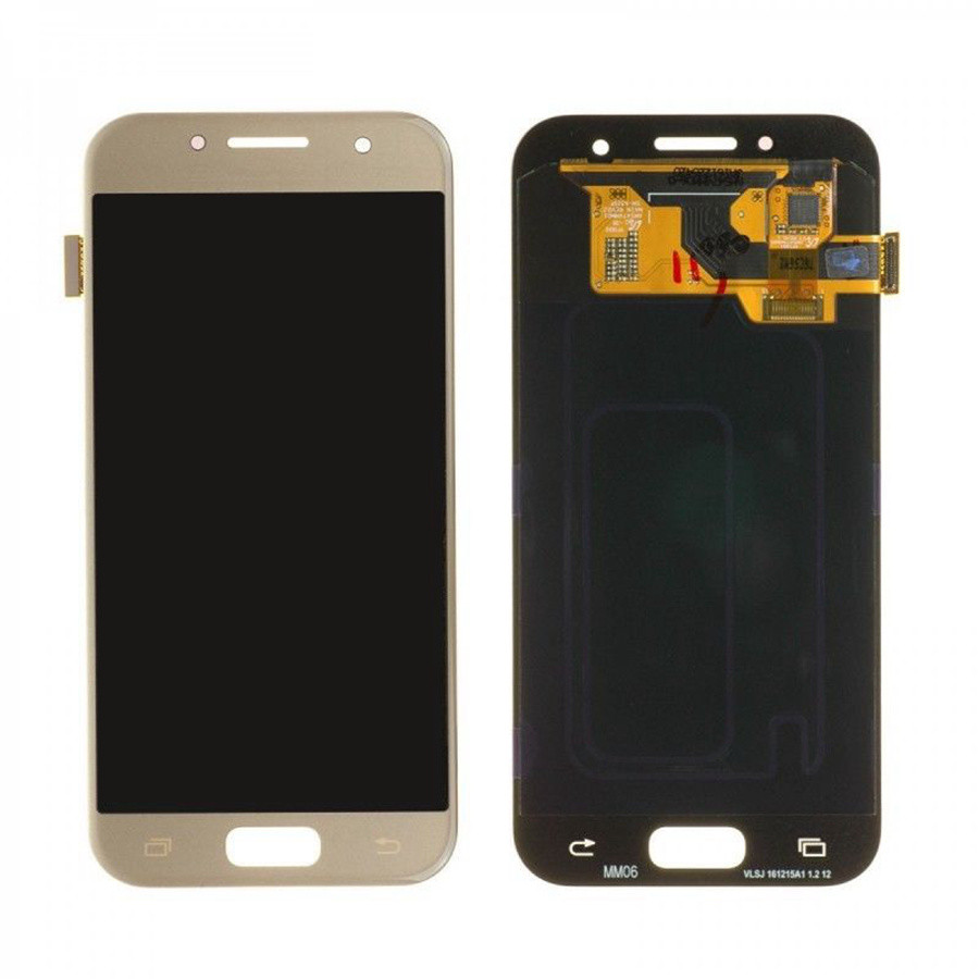 Дисплей модуль Samsung A320F Galaxy A3 (2017) A320 в зборі з тачскріном, золотистий