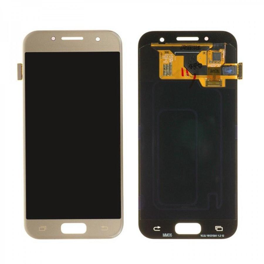 Дисплей Samsung A320F Galaxy A3 (2017) A320 модуль в сборе с тачскрином, золотистый