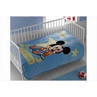 Плед для младенцев Tac Disney - Mickey Baby голубой 110*140