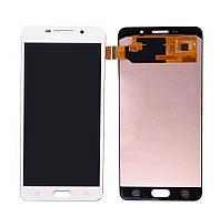 Дисплей модуль Samsung A710F Galaxy A7 (2016) в зборі з тачскріном, білий