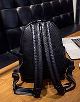 Стильный городской рюкзак под кожу питона, фото 3