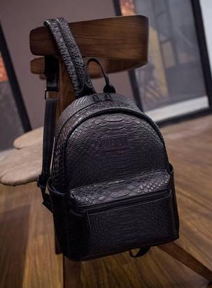Стильный городской рюкзак под кожу питона, фото 2