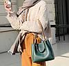 Элегантная трендовая сумка с металлическими ручками, фото 4