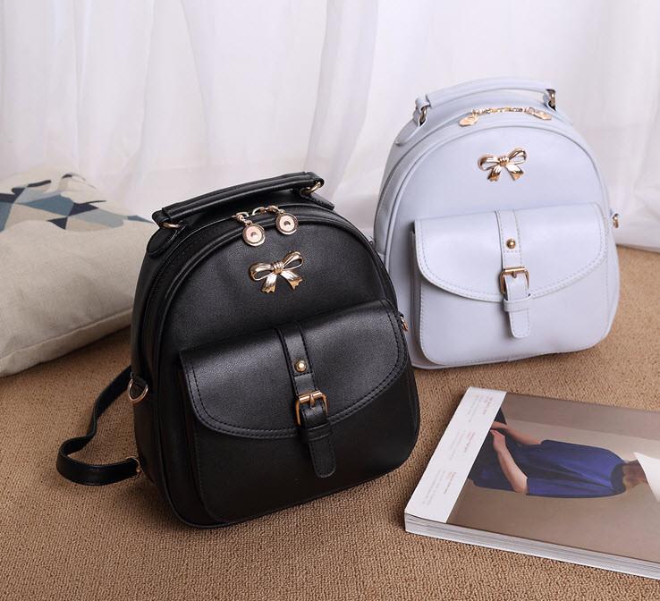 2370553f4123 Модный городской рюкзак с бантиком и красивым карманом - Bigl.ua