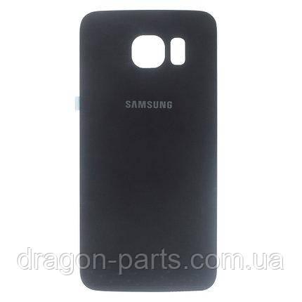 Задняя крышка стеклянная Samsung G920FD Galaxy S6 Черная Black оригинал, GH82-09994A