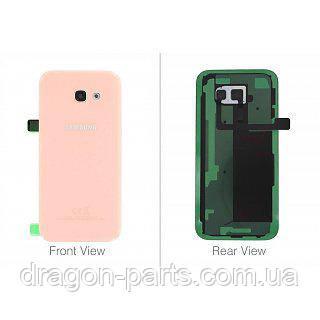 Задняя крышка со стеклом камеры Samsung A520F Galaxy A5 2017 розовая pink оригинал, GH82-13645D, фото 2