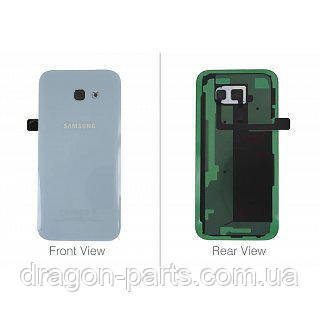 Задня кришка зі склом камери Samsung A520F Galaxy A5 2017 Блакитна blue оригінал, GH82-13645C