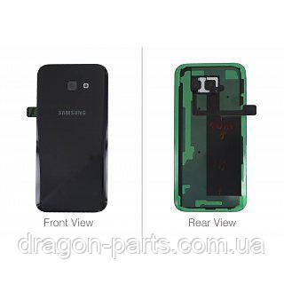 Задняя крышка со стеклом камеры Samsung A520F Galaxy A5 2017 Черная Black оригинал, GH82-13645A, фото 2