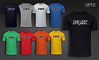 Легкая хлопковая футболка мужская с лисой фокс Fox