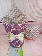 Конверт-одеяло вязаный для новорожденных ТМ Добрый сон