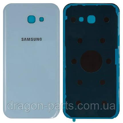 Задняя крышка со стеклом камеры Samsung A720F Galaxy A7 2017 Голубая blue оригинал, GH82-13679C, фото 2
