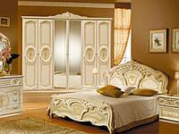 Ліжко з ДСП/МДФ в спальню Реджина 1,6х2,0 з каркасом беж Миро-Марк