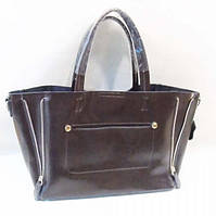 Женская сумка из натуральной кожи цвет кофе
