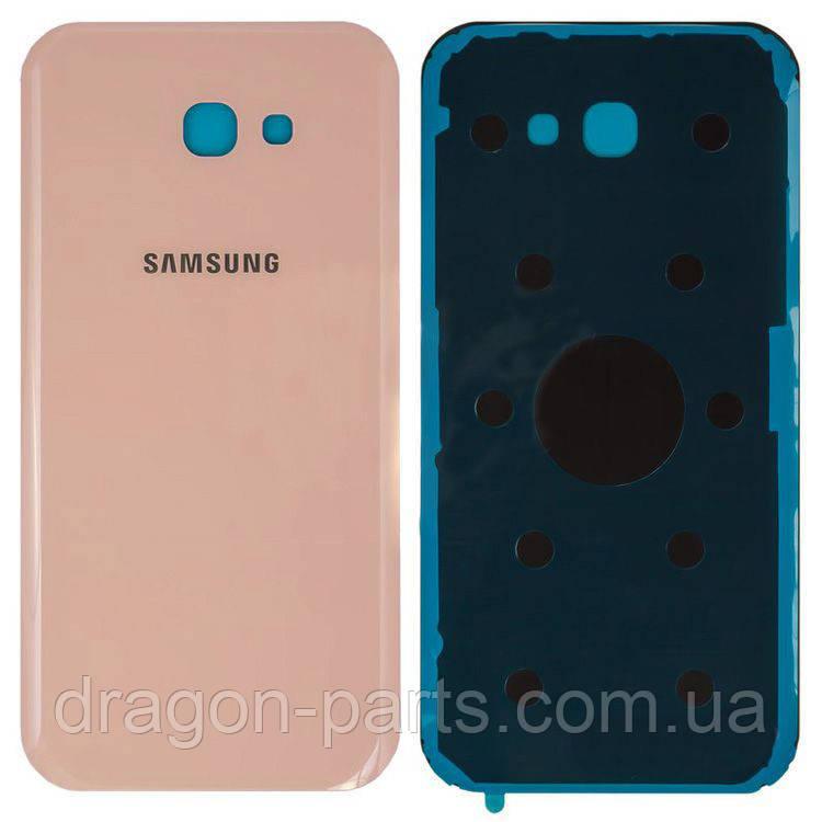 Задняя крышка со стеклом камеры Samsung A720F Galaxy A7 2017 розовая pink оригинал, GH82-13679D