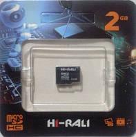 Карта памяти micro SD Hi-Rali 2 GB (без адаптера SD)