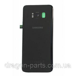 Задняя крышка стеклянная Samsung G950 Galaxy S8 Черная Black оригинал, GH82-13981A, фото 2