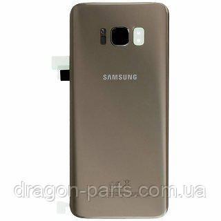 Задняя крышка стеклянная Samsung G950 Galaxy S8 золотая gold оригинал, GH82-13981F, фото 2