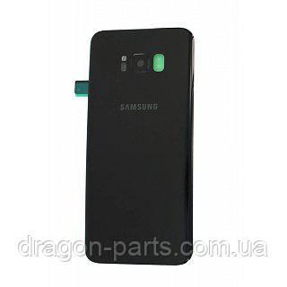 Задняя крышка стеклянная Samsung G955 Galaxy S8 Plus Черная Black оригинал, GH82-14038A, фото 2