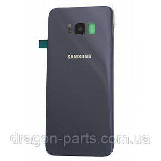 Задняя крышка стеклянная Samsung G955 Galaxy S8 Plus Orchid Gray оригинал, GH82-14038C