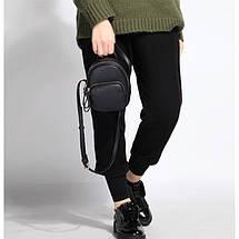 Женский мини рюкзак-сумка Micocah черный, фото 3