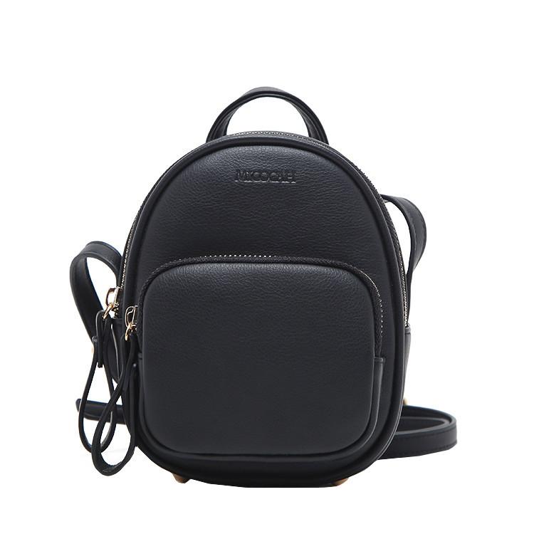 Женский мини рюкзак-сумка Micocah черный