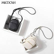 Женский мини рюкзак-сумка Micocah белый eps-8092, фото 3