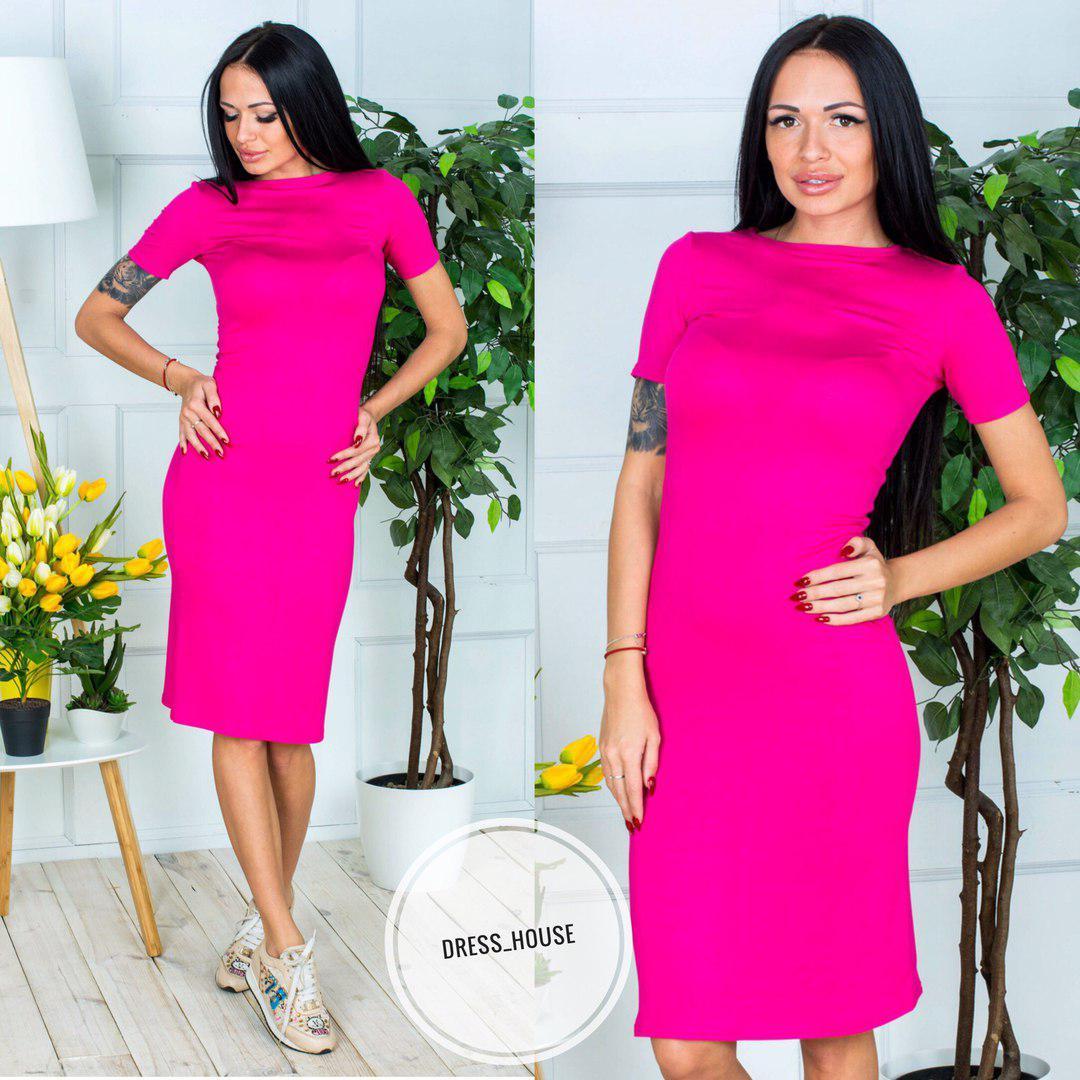 1a0e76e94b0 Платье- футболка облегающее миди вискоза яркие цвета SMSa2220 - Shoppingood  в Харькове