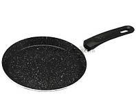 Сковорода блинная индукционная  (алюминий+мрамор) Kamille 0620MR 24 см