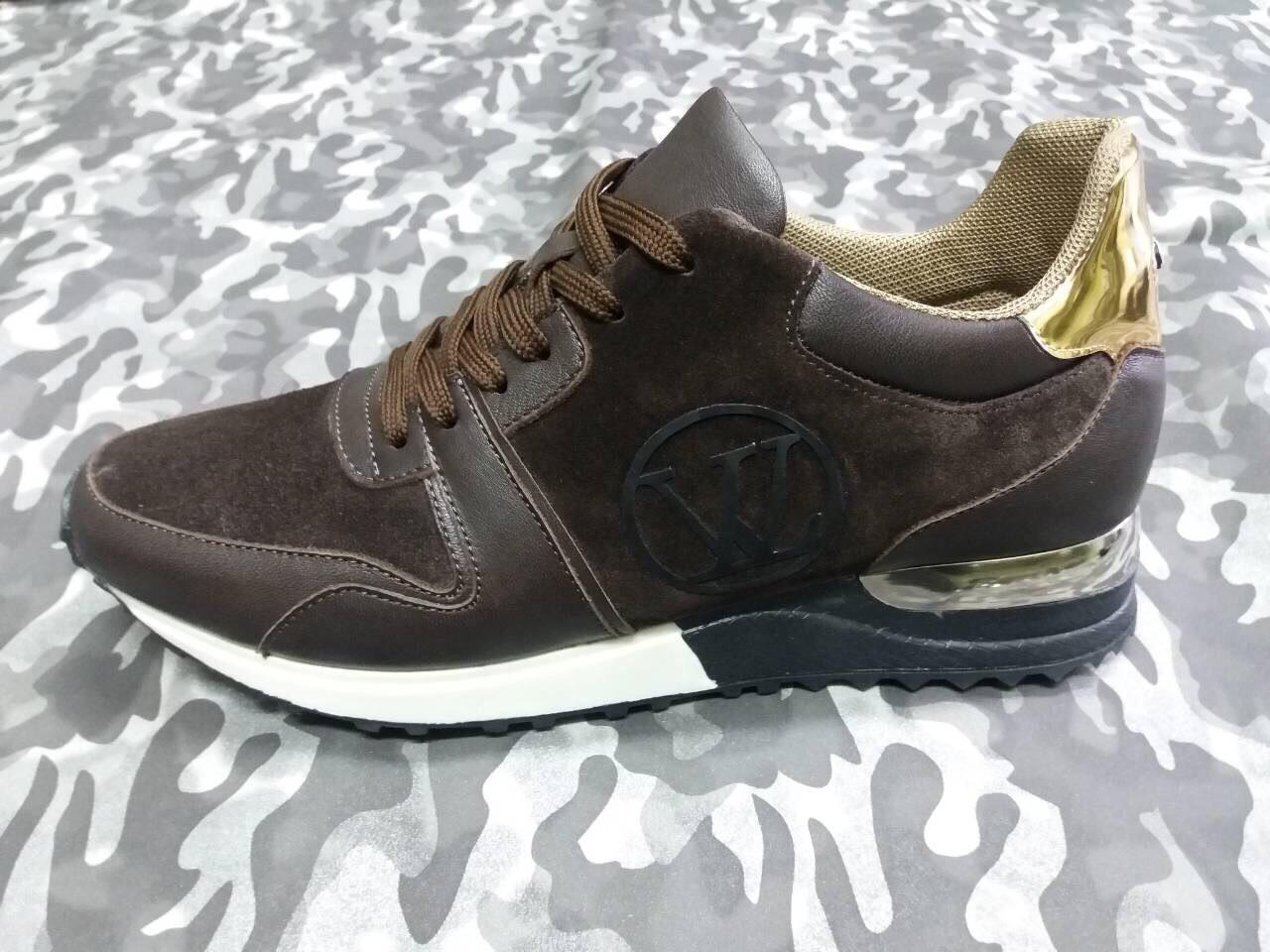 ae7fd35375d4 Кроссовки в стиле Louis Vuitton коричневые с золотом полностью натуральные  , копия