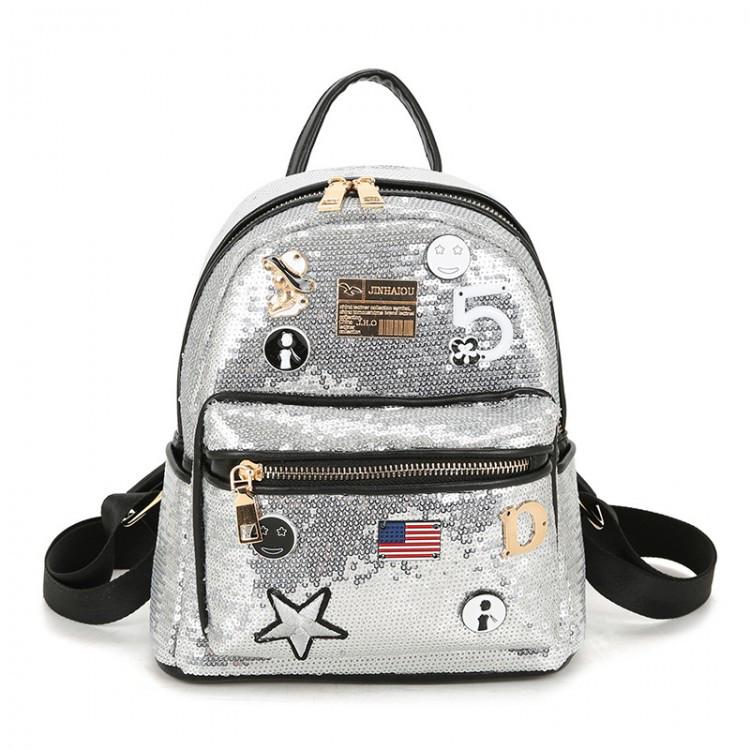Рюкзак женский Cathy Brilliant серебряный eps-8038