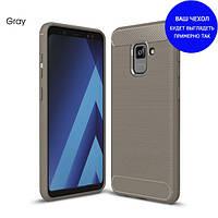 Защитный чехол iPaky Slim с карбоновыми вставками для Samsung J701 Galaxy J7 Neo серый