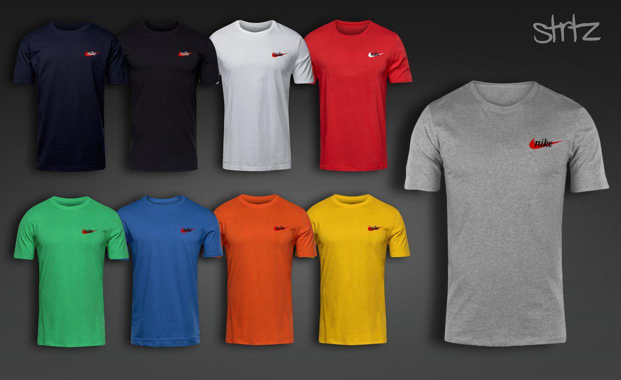 Брендовая спортивная молодежная городская хлопковая футболка от производителя найк кортез Nike Cortez