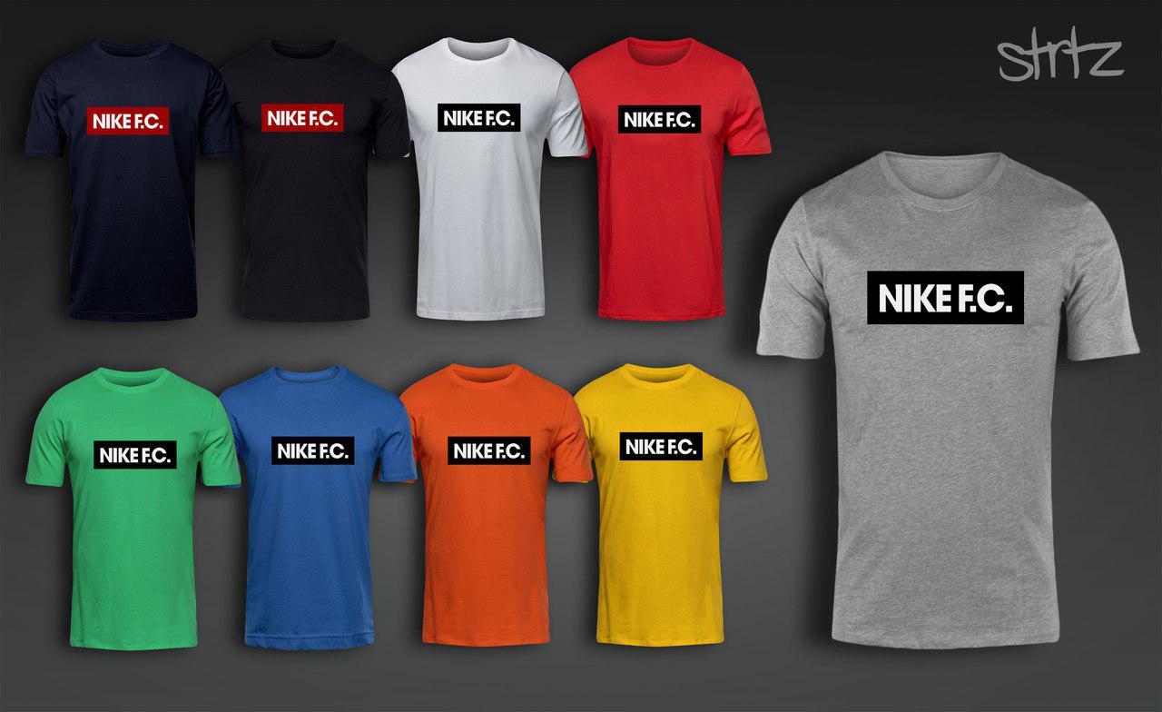 Брендовая спортивная молодежная городская хлопковая футболка от производителя найк фк Nike F.C.