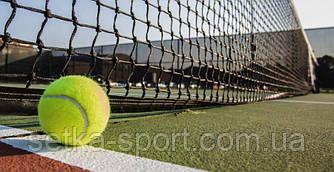 """Сетка для большого тенниса """"ПРОФИ-ЛАЙТ"""" ячейка 5 см, с тросом (Ø шнура - 3,5 мм)"""