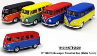 Модель автобус 5 KT5060WM 1962 Volkswagen Classical Bus (Matte) металл инерционная игрушка 1:38 в коробке
