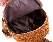 Супер стильный ворсинистый рюкзак с ушками зайца, фото 3