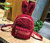 Супер стильный ворсинистый рюкзак с ушками зайца, фото 4