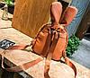 Супер стильный ворсинистый рюкзак с ушками зайца, фото 5
