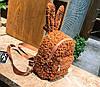 Супер стильный ворсинистый рюкзак с ушками зайца, фото 6