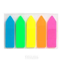 Закладки пластиковые неонового цвета Delta D2450-02, стрелки, 12х45 мм, 125 штук   DELTA by AXENT ()