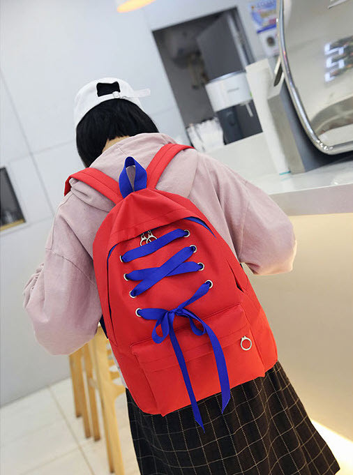 Большой тканевый рюкзак со шнуровкой