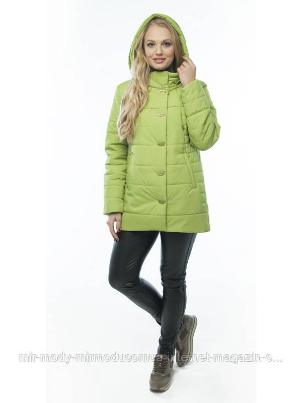Демисезонная куртка «Кристина» лайм  с 50 по 60  размер wayk