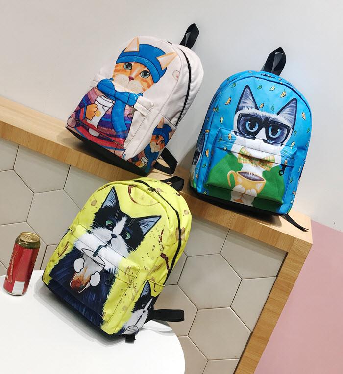Большие оригинальные рюкзаки со стильными котами