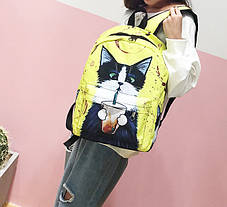 Большие оригинальные рюкзаки со стильными котами , фото 3