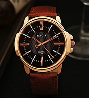 Мужские часы Yazole MWO353-354 Brown Black